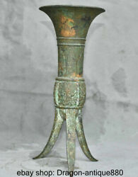 12 Japan Collect Old Antique Bronze Beast Face Head 3 Foot Drink Wine Cups