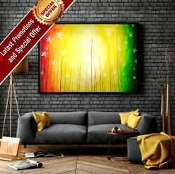 Original Painting Oil Canvas Floral Design Art Hand Painted Modern Wall Picture