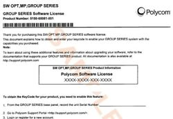 New Polycom - Group Multipoint Software License Pn 5150-65081-001