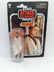 Star Wars Attack Of The Clones Anakin Skywalker Peasant Diguise Action Figure.