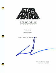 Geroge Lucas Signed Autograph Star Wars Episode Iv A New Hope Full Movie Script