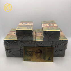 1000pc Zimbabwe Gold Banknote One Hundred Decillion Dollars With 100 Certificate