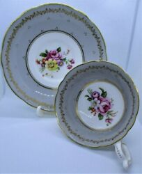 Coalport. Vintage Tea Cup And Saucer. A.d. 1750. Bone China. Made In England