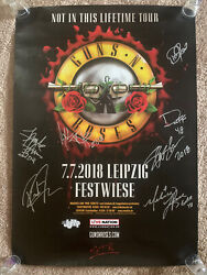 Guns And Roses Band Autographed Signed 2018 23x33 Poster Bas Certified Axl Slash