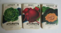 Wholesale Lot Of 75 Old Vintage 1940and039s - Vegetable - Seed Packets - Empty - Va2