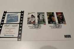 1996 Nz New Zealand Fdc Centenary Of Cinema Stamp Fdc Cover
