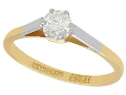 Vintage 1950s 0.35 Ct Diamond And 18 Ct Yellow Gold Solitaire Ring