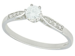 Vintage And Contemporary 0.23 Solitaire Diamond Ring Size O