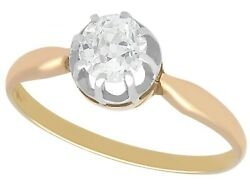 Antique 0.63 Ct Diamond And 14k Gold Solitaire Engagement Ring