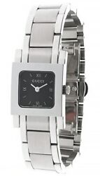 S-steel Square Black Dial Bracelet Womenand039s Watch 7905p-07935