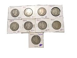 Barber Half Lot Old Store Inventory Some Better Dates Priced To Sell 9 Coins