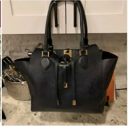Michael Kors Large Miranda Tote in Navy with dust bag 100% AUTHENTIC $400.00