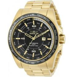 Speedway 30524 Mens Gold-tone Automatic Exhibition Back Tachymeter Watch