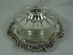 Stunning William Iv Silver Butter Dish On Stand 1836