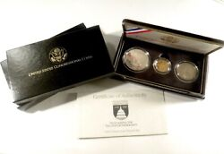 1789-1989 Proclaiming The Triumph Of Democracy 3-coin Commemorative Set 651