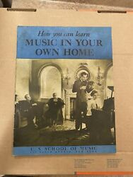 1938 How You Can Learn Music In Your Own Home - Us School Of Music - New York