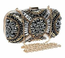 Small Shoulder Bags Purses Clutch Beaded Rhinestone Flap Hasp Embroidery Bag New