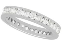 1.92ct Diamond And 15ct White Gold Full Eternity Ring Vintage Circa 1980