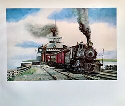 1976 Book Plate Ferry At St. Ignace Carl Ulrich 1970 Locomotives Trains