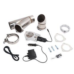 Lencool 3and039and039 Electric Exhaust Muffler Valve Cutout System Dump Wireless Remote