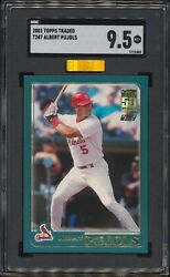 2001 Topps Traded Albert Pujols T247 Rc Cardinals Rookie Sgc 9.5 Mba Gold Label