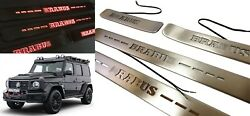 G Wagon Red Led Door Sills Brabus Style Scuff Plates Fit W463a 2018 + Set 4 Pcs