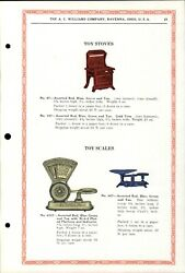 1934 Paper Ad A. C. Williams Toy Color Red Stove Range Oven Dayton Scale Balance
