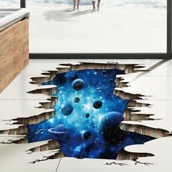 3D Outer Space Galaxy Wall Sticker Planet Mural Removable Wall Decal Home Decor
