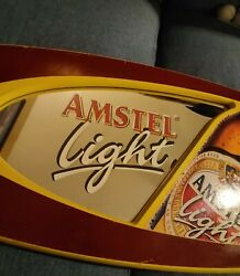 Awesome Vintage Amstel Light Beer Mirror Sign Bar Advertising Man Cave Beeco Mfg