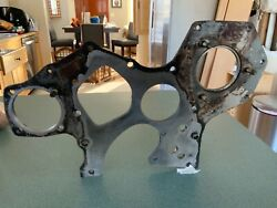 Yanmar Engine Front Plate With Studand039s Off A 4jh-tbe Marine Turbo Diesel