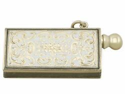 Antique 14k Yellow Gold And Enamel Spark Striker 1920s