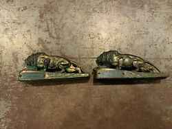2fort Pitt Spring And Manufacturing Company Paperweight Lion Heavy Bronze 6 Inch