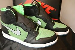 Nike Air Jordan 1 High Zoom Size 13 Rage Green Black Ck6637-002. In Hand