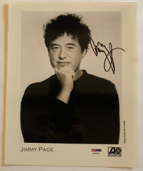 Jimmy Page Led Zeppelin Signed Autographed 8x10 Photo Psa Certified