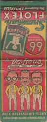 The Pep Boys-manny-moe-jack-matchbook-1 1/2 Inches Width-empty-vintage-1950's