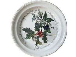 Portmeirion The Holly And The Ivy Salad Plate 8.5 Nwot