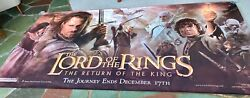 Lord Of The Rings Return Of The King Org. Adv. Movie Theatre Lobby Banner Unused