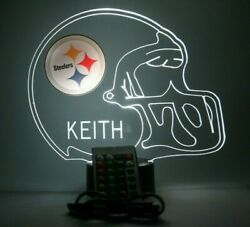 Pittsburgh Steelers Night Light Up Personalize Free Football Led Sports Fan Lamp
