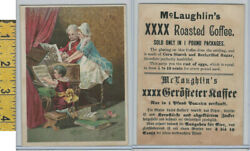 Victorian Card 1890and039s Mclaughlin Coffee Family Plays Piano