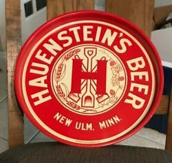 Mint Hauenstein's Beer - Brewing 14 Inch Metal Tin Litho Tray New Ulm Mn 1930's