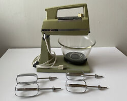 Vintage Ge General Electric All Purpose Stand Mixer Electric Green - Works Great