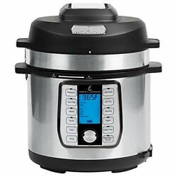 Emeril Everyday 8 Qt With Accessories Pressure Air Fryer 5 Pc Pack Silver