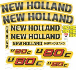 New Holland U80c Tractor Decals / Stickers Compatible Complete Set / Kit