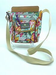 Lily Bloom Cross Over Bag Bright Colors amp; Butterflies $30.00