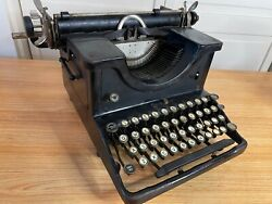 Ultra Rare 1929 Antique Demountable Typewriter All Caps Font Working W New Ink