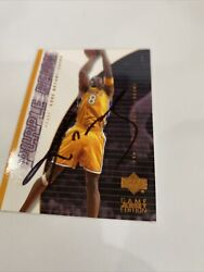 2001 Kobe Bryant Upperdeck Purple Reign Hand Signed With Coa