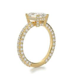 Special 2.00 Ct F Si1 Diamond Engagement Ring Emerald 14k Yellow Gold