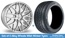 Alkatec Winter Alloy Wheels And Snow Tyres 19 For Ford Focus [mk2] 04-11