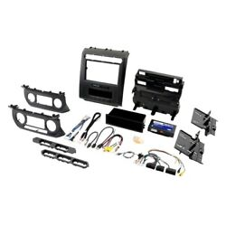 For Ford F-150 15-19 Double Din Black Replacement Stereo Dash Multi Kit With