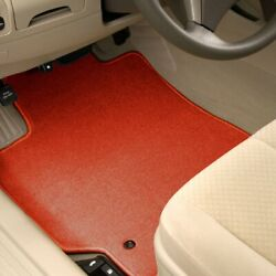 For Scion Tc 11-16 Carpeted 1st And 2nd Row Burned Red Floor Mats